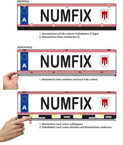 Montage Kennzeichenhalter numfix AT K