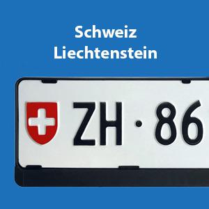 Kennzeichenrahmen Schweiz