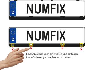 numfix EU S Kennzeichenhalter