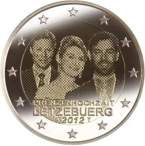 2 euros cc luxemburgo 2012 boda real