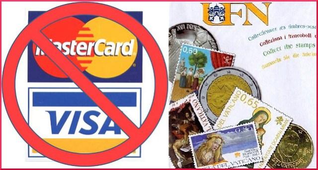 Vaticano no tarjetas credito