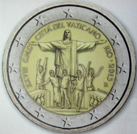 2 euros cc Vaticano 2013