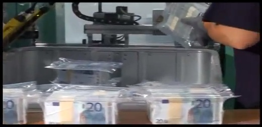billetes euro a