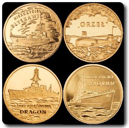 monedas emitidas barcos polonia