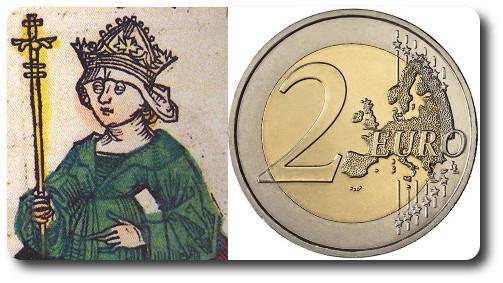 2 euros 2014 Eslovenia Barbara de Celje
