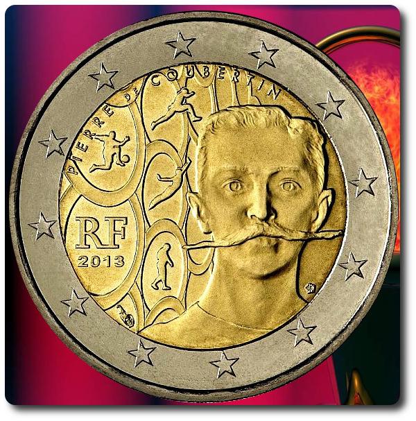 2 euros coubertin francia 2013