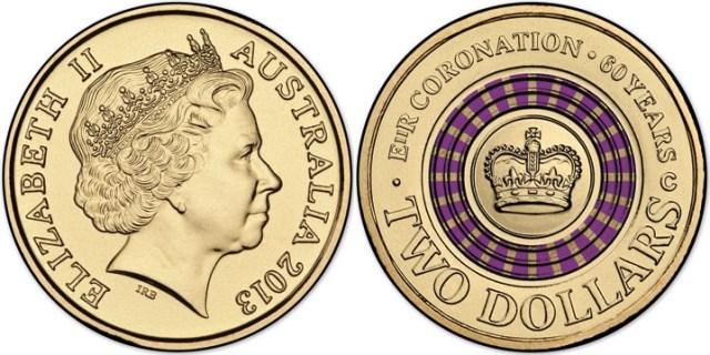2 dolares 60 años coronacion