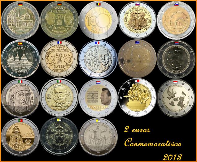 2 euros conmemorativos 2013-2