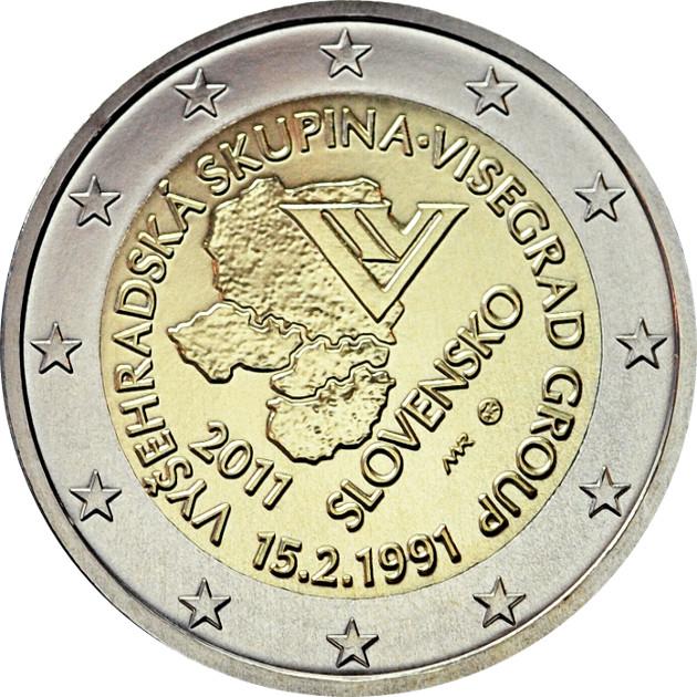 Moneda De 2 Euros Conmemorativa Eslovaquia 2011 Numismatica Visual