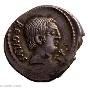 L.Livineius Regulus  denarius 42