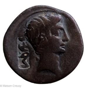 Augustus denarius with countermark