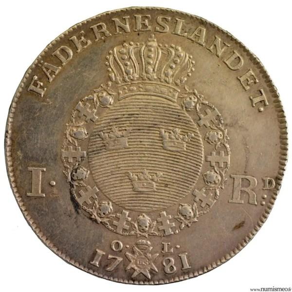 Suède Riksdaler 1781