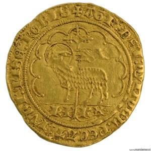 Charles VI agnel d'or frappé à Tournai 1er émission