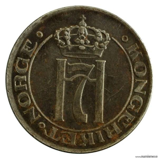 Norvege 5 ore 1919 fer