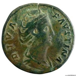 Faustine I sesterce frappé à Rome