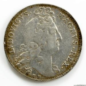 Louis XIV AR jeton 1702 secretaire du roi