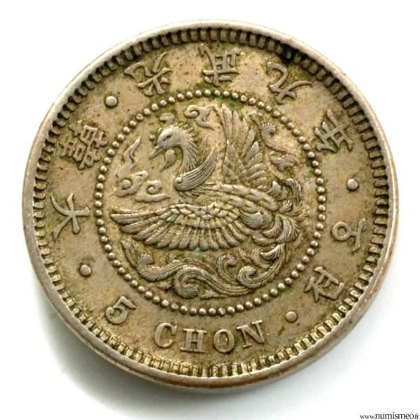 Corée 5 chon année 9 1905