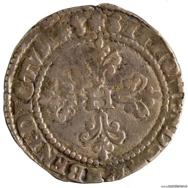 Henri III Franc 1582 Bayonne