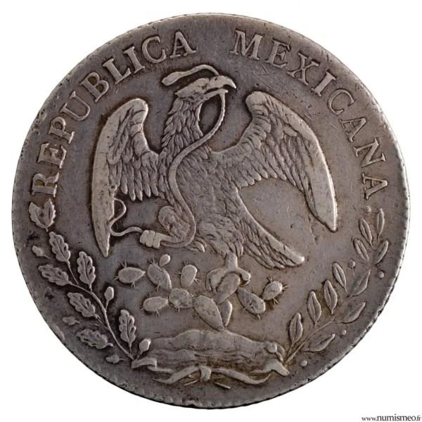 Mexique 8 reales 1853 Mexico
