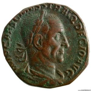 Trajan Dece sesterce frappé à Rome en 249