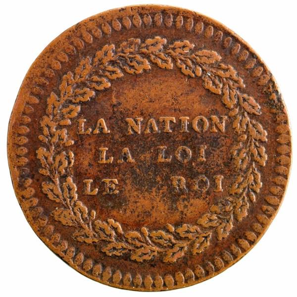Essai en cuivre de Gerbeault 1791