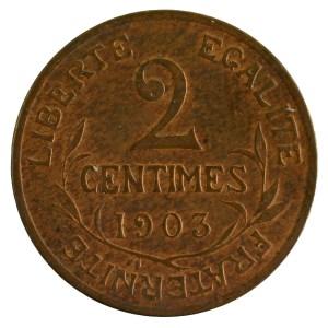 III Republic 2 centimes 1903