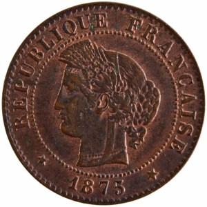 III République 1 centime 1875 Bordeaux