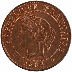 III République 1 centime 1884 Paris