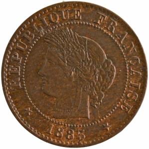 Third Republic 1 centime 1885 Paris