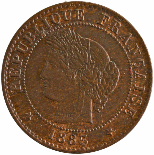 Third Republic 1 centime 1885 Paris