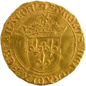 Charles VIII Ecu d'or au soleil pour Dijon (coquille)