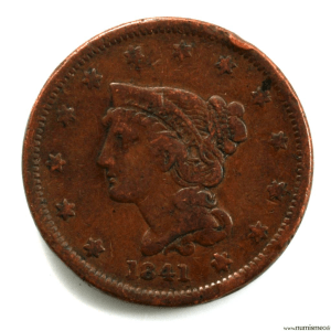 USA 1 cent 1841