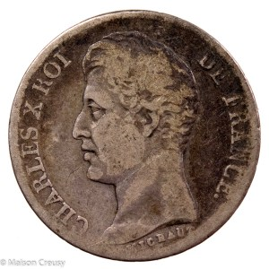 Charles X AR franc 1827 Paris