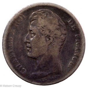 Charles X AR franc 1827 Lille