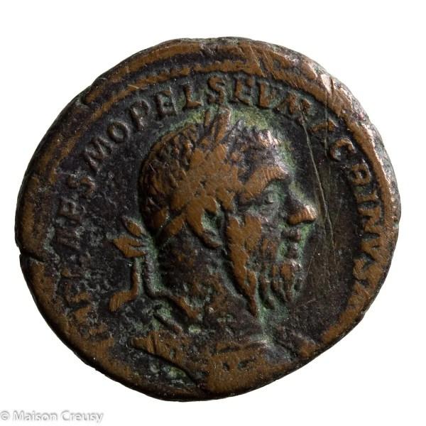 Macrinus AE As Rome 217-218