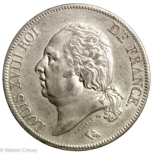 LouisXVIII-5francs1823A