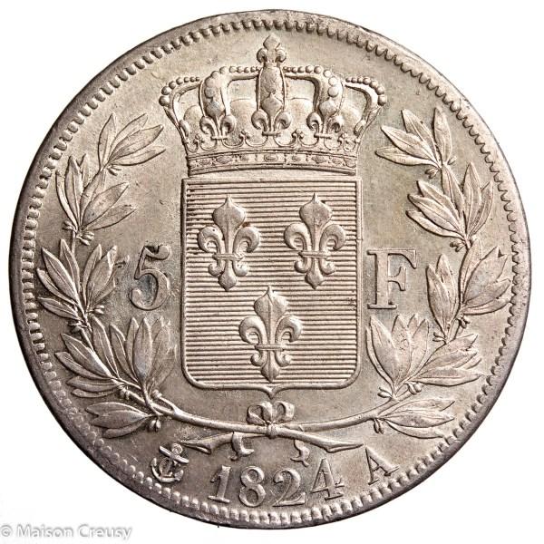 LouisXVIII-5francs1824A