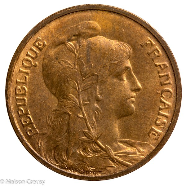 Third Republic 5 centimes Dupuis 1902 Paris