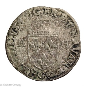 Henri IV the great AR Douzain second type 1595 Poitiers mint