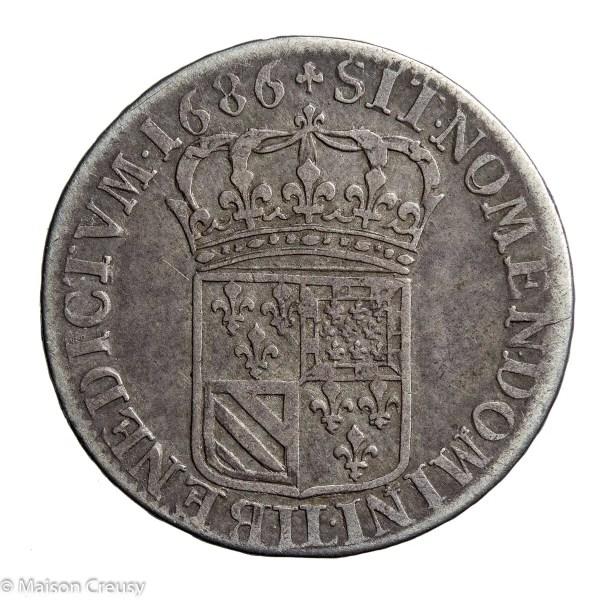 LouisXIV-QuartEcuCarambole1686LL