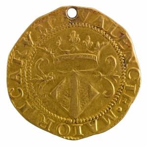 Espagne Valence Charles I couronne d'or troué