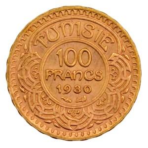 Tunisie 100 francs 1930