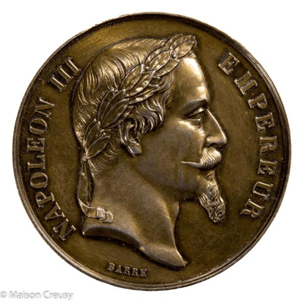 Napoleon III médaille en argent Comite agricole de Bourg 1869