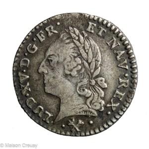 Louis XV 1/20 ecu 1773 L