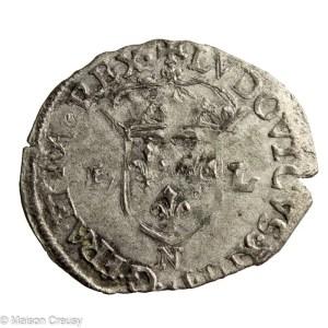 Louis XIII douzain huguenot 1622 N