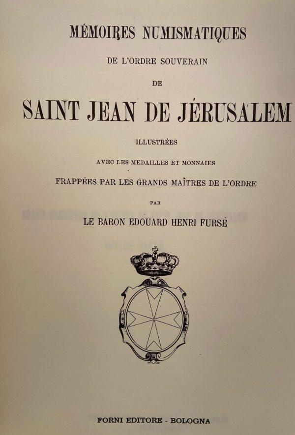 Edouard Henri Fursé Numismatique Saint Jean de Jerusalem