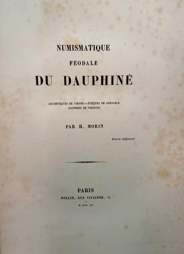 H Morin Numismatique Féodale Dauphiné