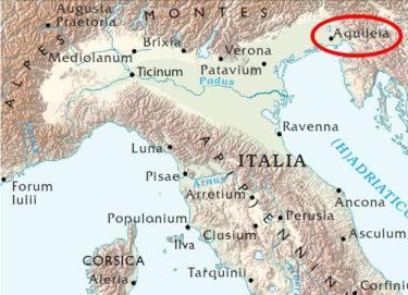 Collocazione geografica del primo scontro fra Teodorico ed Odoacre
