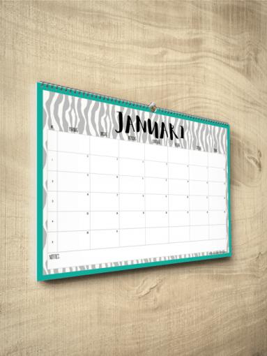 Kalender Zebra 2017
