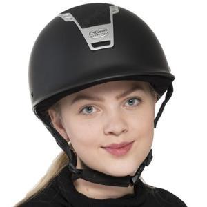 Ratsastuskypärä Stardust, Horse ComfortTyylikäs kypärä kauniilla kimalleyksityiskohdalla. Kiinteellä lipalla. VG1 Säädettävä koko